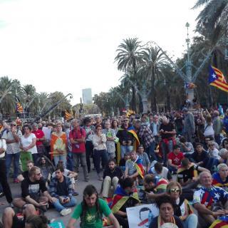 L'ANC de Sant Feliu de Pallerols ha viatjat fins a Barcelona per concentrar-se davant el parlament
