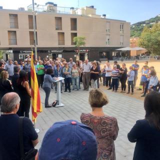 Concentració 17-O. Ajuntament Premià de Dalt