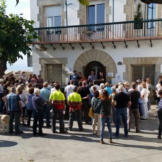 Concentració 17-O. Ajuntament Sant Pol de Mar
