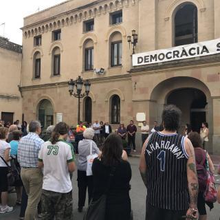 Concentració 17-O. Ajuntament Vilassar de Dalt