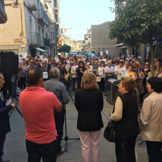 Les Borges Blanques, concentració #llibertatjordis davant l Ajuntament