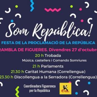 Cartell de la Festa per la República convocada a Figueres