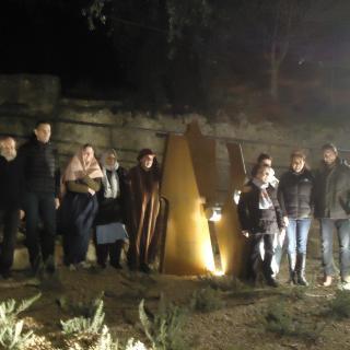 Inauguració escultura dedicada al Pessebre Vivent