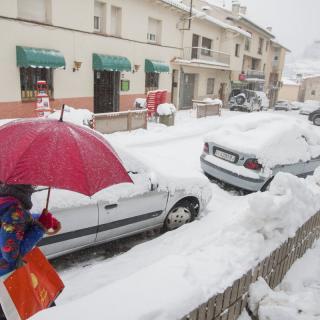 Molts vehicles han aparegut plens de neu aquest matí.