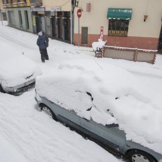 Cotxes nevats aquest dimecres el matí a tot Catalunya.