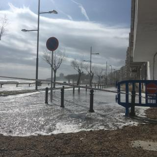 Aigua desbordada a Sant Antoni de Calonge