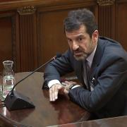 El comissari Ferran López, número dos dels Mossos d'Esquadra, durant la seva declaració al Suprem