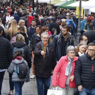 La Rambla de Girona plena