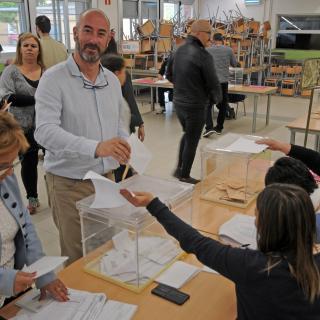 Sr. Xavier Vinyoles i Compta, candidat a l'Alcaldia de Bescanó per ERC.