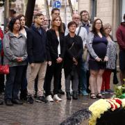 Ofrena d'ERC al monument a Casanova de Barcelona