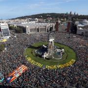 La Plaça Espanya, plena per la Diada