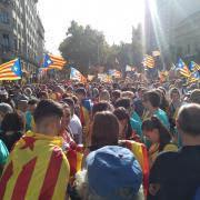 Tram 26. Gran Via de les Corts Catalanes amb Pg. de Gràcia