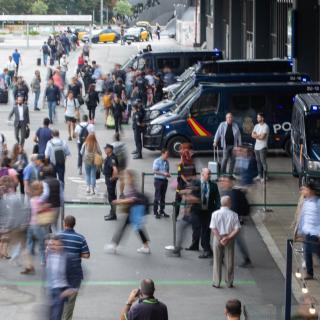 L'estació de Sants de Barcelona, blindada per la policia espanyola