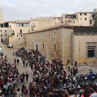Estudiants de la UdG es manifesten després de la  Sentència