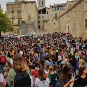 Conentració a l'Universitat de Girona, després de la sentència