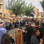 Concentració davant els Jutjats de Figueres