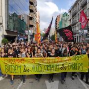 Manifestació al centre de Girona