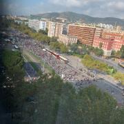 Vista de la Diagonal amb Maria Cristina