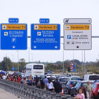 Col·lapse als accessos a l'aeroport de Barcelona, després de la sentència de l'1-O