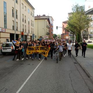 Protesta contra la sentència de l'1-O, aquest dilluns a Olot
