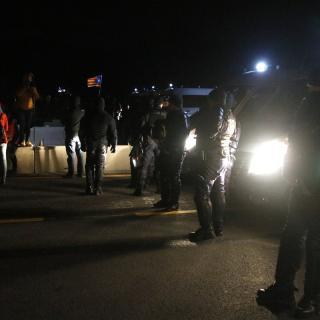 Cordó policial a l'AP-7