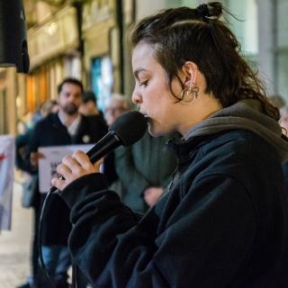 CONCENTRACIÓ unitària dels dilluns 111a #LlibertatPresosPoliticsiexiliats #Girona