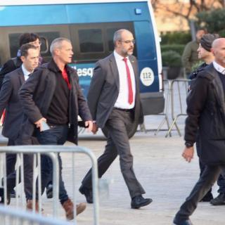Miquel Buch arribant al Camp Nou