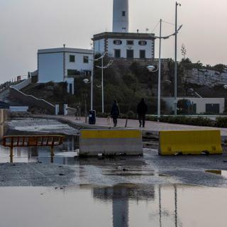 Vista d'Eivissa després del temporal Gloria