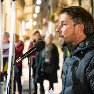 Llibertat Presos Polítics i Exiliats. Concentració Unitària. Girona 10 02 20