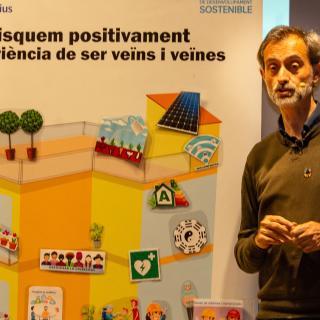 Caixa Fòrum Girona presentació. Edificis Positius. A càrrec de Josep M. Canyelles