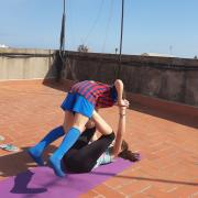 Fent exercici. Gian i Martina. Barcelona