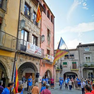 Diada Nacional a la plaça de la Vila de Torroella de Montgrí
