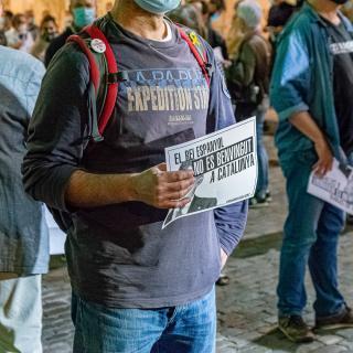 Protesta per la visita del rei -Girona 08/10/2020