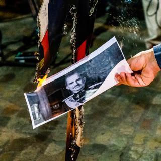 Protesta per la visita del rei -Girona 08/10/202