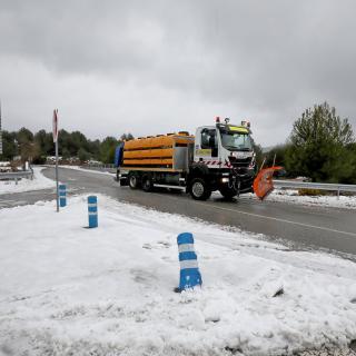Imatges de la nevada al Bruc