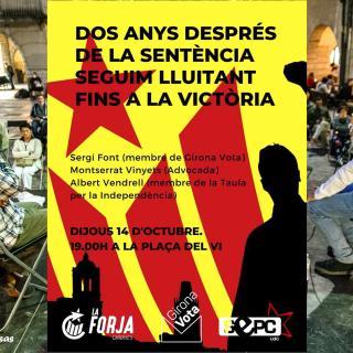 Seguim lluitant fins a la Victoria. Col·loqui a Girona.  Sergi Font  Montserrat Vinyet. Albert Vendrell