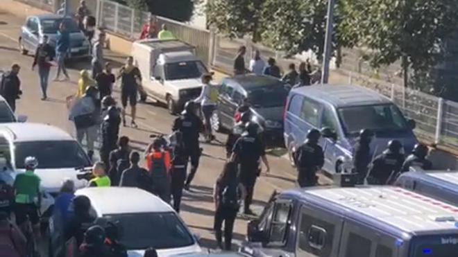 Càrregues policials a Celrà el 1510-2019, l'endemà de la sentència de l'1-O contra els manifestants a Celrdà