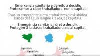 Sindicats: Emergència sanitària i dret a decidir