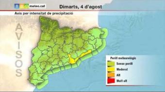 Previsió del temps per al dimarts 4 d'agost
