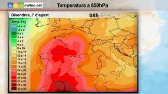 Predicció temps dimecres tarda 5 agost 2020