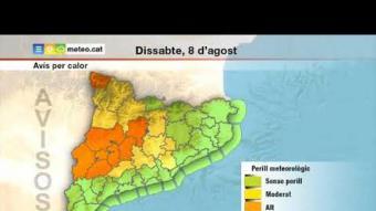 Previsió temps dissabte 8 d'agost del 2020 tarda