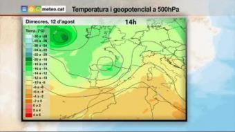 Previsió del temps per al dimecres 11 d'agost