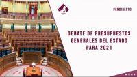 Ple del Congrés per discutir el projecte de llei de Pressupostos Generals per al 2021
