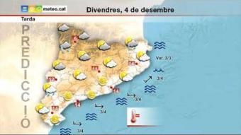 Previsió del temps per al divendres 4 de desembre