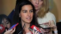 La candidata de Vox a la Comunitat de Madrid, Rocío Monasterio, en una atenció als mitjans