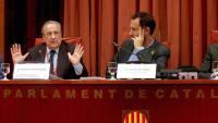 El president d'ACS, Florentino Pérez, aquest dilluns al Parlament