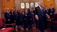 El fiscal superior de Catalunya, Francisco Bañeres, aquest dilluns al Palau de Justícia