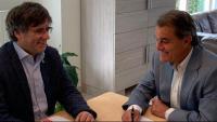 Carles Puigdemont i Artur Mas, reunits aquest dimecres a Waterloo