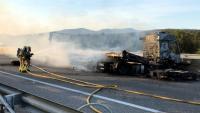 El conductor del camió sinistrat diumenge a l'AP-7 ha mort aquest dilluns a l'hospital