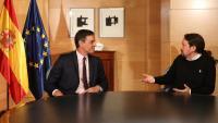 Pedro Sánchez i Pablo Iglesias, en una reunió celebrad aquest mes de juny
